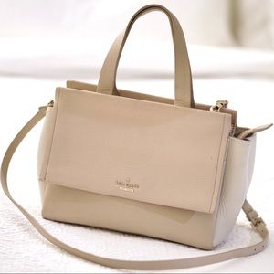 Kate Spade Cream & White Leather Satchel Bag